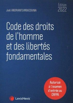 Code des droits de l'homme et des libertés fondamentales - lexis nexis (ex litec) - 9782711034994 -