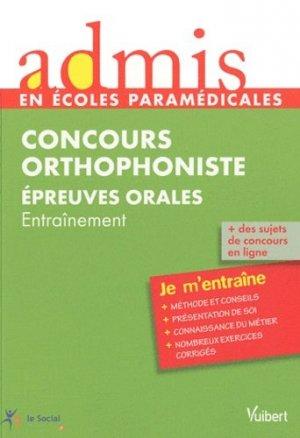 Concours Orthophoniste - vuibert - 9782711738946 -