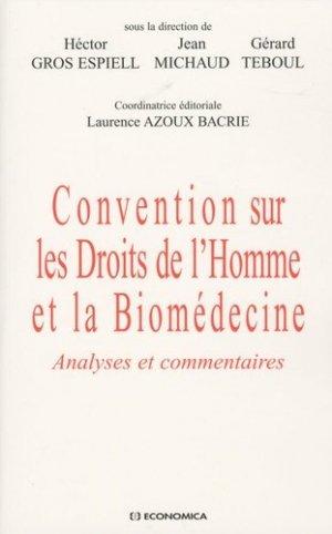Convention sur les Droits de l'Homme et la Biomédecine - economica anthropos - 9782717857733 -