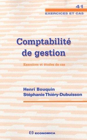 Comptabilité de gestion - Economica - 9782717859133 -
