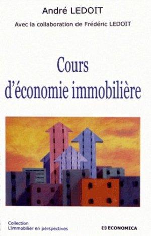 Cours d'économie immobilière - Economica - 9782717864656 -