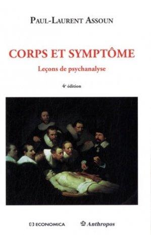 Corps et symptômes - economica anthropos - 9782717868289