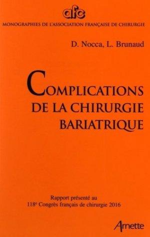Complications de la chirurgie bariatrique - arnette - 9782718414423 -