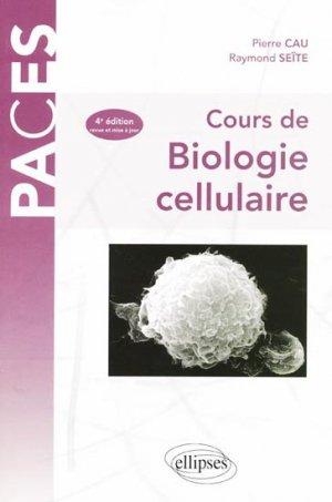 Cours de biologie cellulaire - ellipses - 9782729830809 -