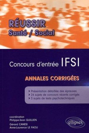 Concours d'entrée IFSI - ellipses - 9782729839796 -