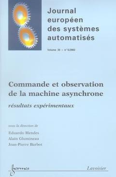 Commande et observation de la machine asynchrone - hermès / lavoisier - 9782746205345 -
