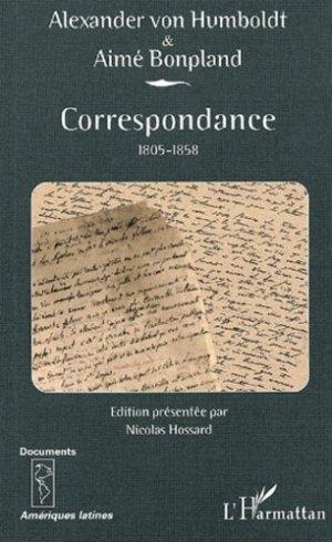 Correspondance 1805-1858 - l'harmattan - 9782747559928 -