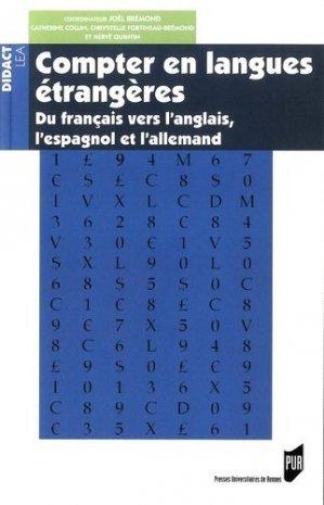 Compter en langues étrangères - presses universitaires de rennes - 9782753534858 -