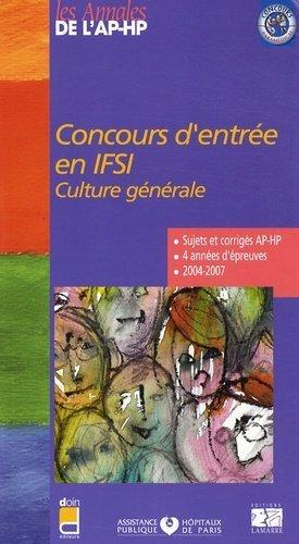 Concours d'entrée en IFSI Culture générale - doin / ap-hp / lamarre - 9782757302187 -