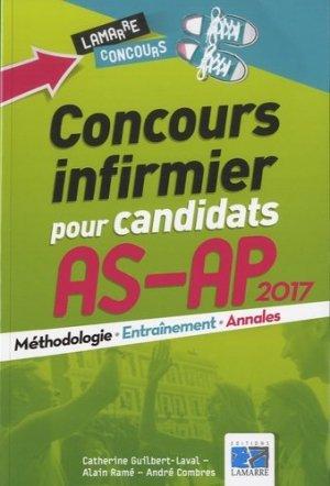 Concours infirmier pour candidats AS-AP 2017 - lamarre - 9782757308639 -