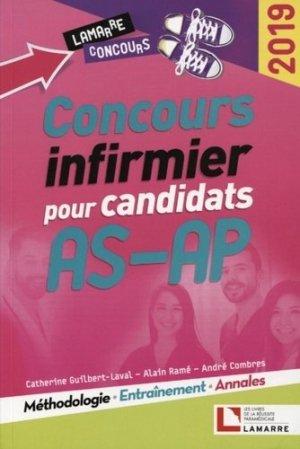 Concours infirmier pour candidats AS-AP 2019 - lamarre - 9782757310601 -
