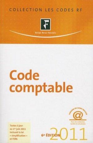 Code comptable 2011 - Groupe Revue Fiduciaire - 9782757903162 -