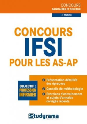 Concours IFSI pour les AS-AP - studyrama - 9782759025671