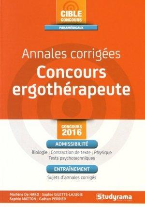 Concours ergothérapeute - studyrama - 9782759029549 -