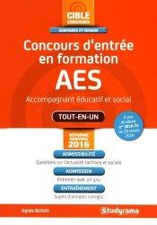 Concours d'entrée en formation AES (accompagnement éducatif et social) - studyrama - 9782759032280 -