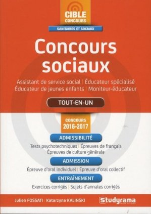 Concours sociaux 2016-2017 - studyrama - 9782759032310 -