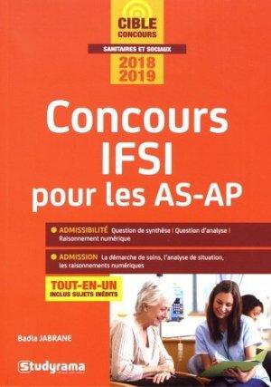 Concours IFSI pour les AS-AP - Concours 2018-2019 - studyrama - 9782759037582 -