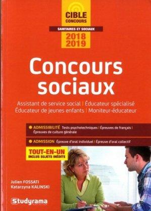 Concours sociaux. Edition 2018-2019 - Studyrama - 9782759037612 -