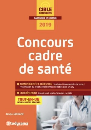 Concours cadre de santé - studyrama - 9782759039852 -
