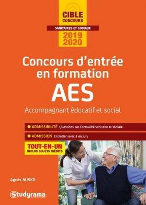 Concours d'entrée en formation AES 2019 - 2020 - studyrama - 9782759040315 -