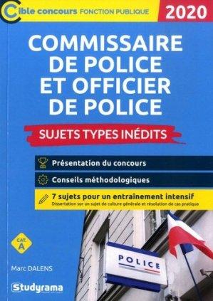 Commissaire de police et officier de police. Sujets types inédits, Catégorie A, Edition 2020 - Studyrama - 9782759040698 -
