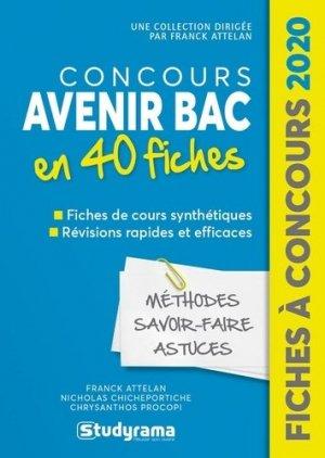 Concours Avenir Bac 2020 - studyrama - 9782759041060 -
