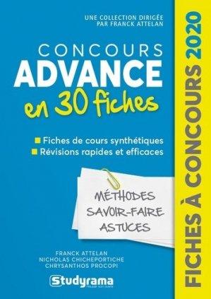 Concours Advance 2020 - studyrama - 9782759041480 -