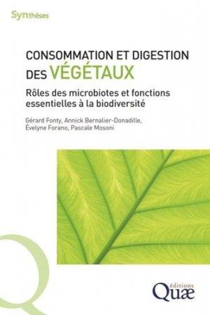 Consommation et digestion des végétaux - quae - 9782759229734