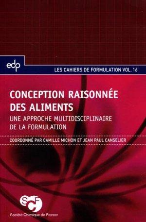 Conception raisonnée des aliments - edp sciences - 9782759807567 -