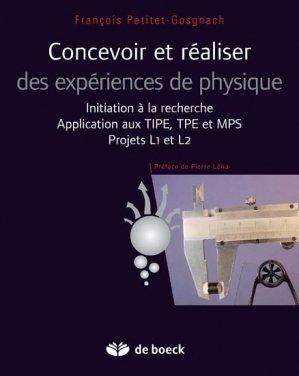 Concevoir et réaliser des expériences de physique - de boeck superieur - 9782804176396 -