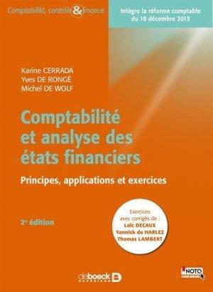 Comptabilité et analyse des états financiers - De Boeck supérieur - 9782804193850 -