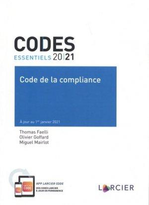 Code de la compliance - Éditions Larcier - 9782807926547 -
