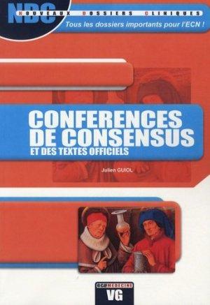 Conférences de consensus et des textes officiels - vernazobres grego - 9782818300923 -