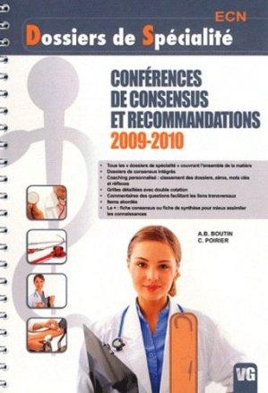 Conférences de consensus et recommandations 2009 - 2010 - vernazobres grego - 9782818302958 -