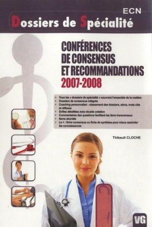 Conférences de consensus et recommandations 2007-2008 - vernazobres grego - 9782818303344 -