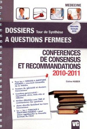 Conférences de consensus et recommandations 2010 - 2011 - vernazobres grego - 9782818304525