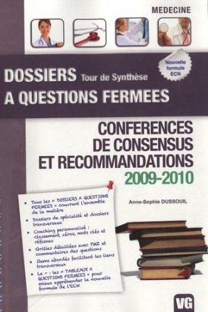 Conférences de consensus et recommandations 2009-2010 - vernazobres grego - 9782818304631 -