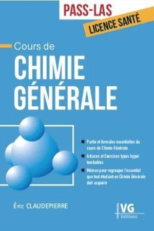 Cours de chimie générale - vernazobres grego - 9782818317945 -