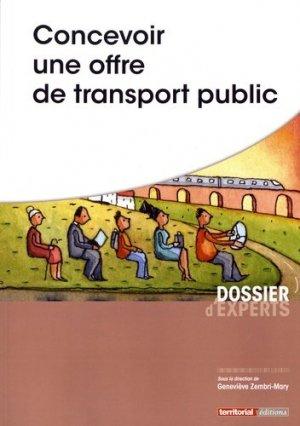 Concevoir une offre de transport public - territorial - 9782818611517 -