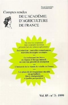 Comptes rendus de l'Académie d'Agriculture de France - LAVOISIER / TEC ET DOC - 9782841073870 -