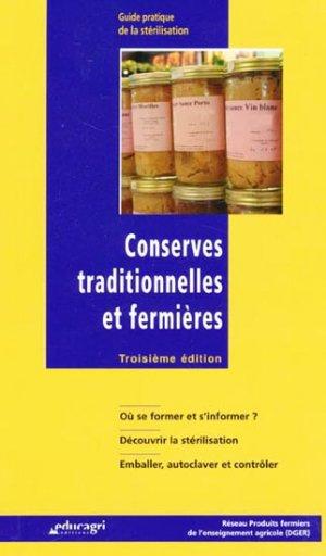 Conserves traditionnelles et fermières - educagri - 9782844447463 -