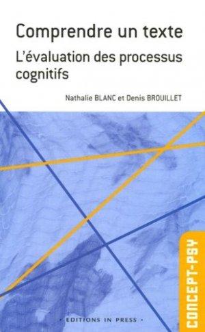 Comprendre un texte. L'évaluation des processus cognitifs - In Press - 9782848350868 -
