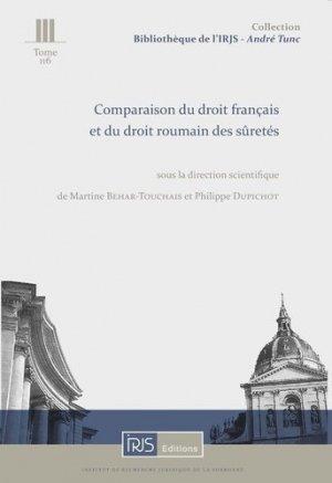 Comparaison du droit français et du droit roumain des sûretés - irjs - 9782850020421 -