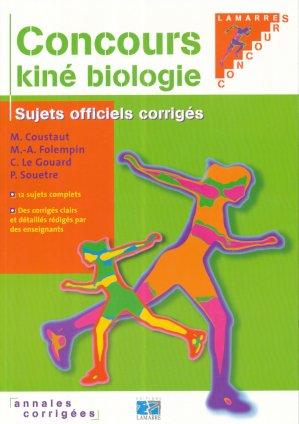 Concours kiné biologie - lamarre - 9782850306587 -