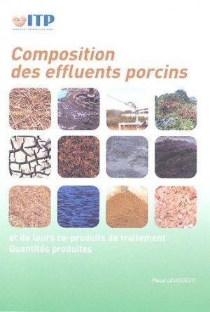 Composition des effluents porcins et de leurs coproduits de traitement  - itp - 9782859691738 -