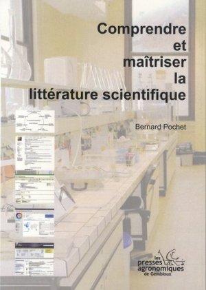 Comprendre et maîtriser la littérature scientifique - presses agronomiques de gembloux - 9782870161371 -