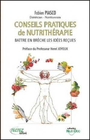 Conseils pratiques de nutrithérapie - testez - 9782874611254 -