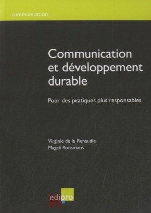 Communication et développement durable - Edipro - 9782874962479 -