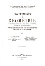Compléments de géométrie - jacques gabay - 9782876473478 -