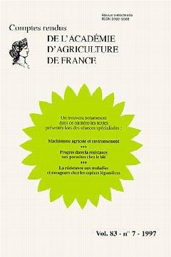 Comptes rendus de l'Académie d'Agriculture de France - LAVOISIER / TEC ET DOC - 9782877779906 -